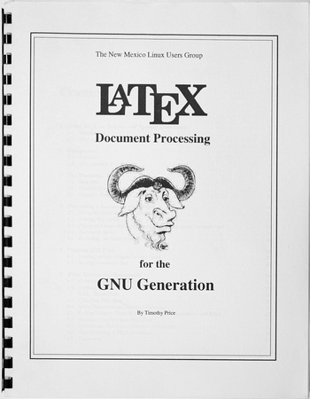 Cover to a LaTeX Guide